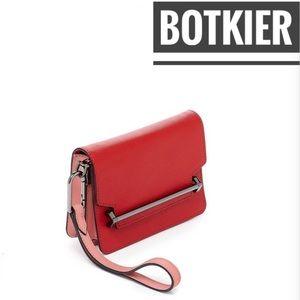Botkier Lennox Box Leather Crossbody Bag red